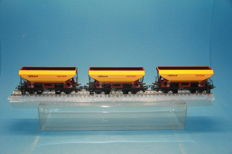 Marklin H0 - 4641 - 3 pieces 2 axle self discharging wagons from Railbouw Leerdam