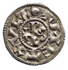 France – Charles II The Bald (840-877) – AR Denier, Melle