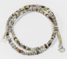 22.50 ct Bracelet or Necklace with multi-color Rough Diamonds