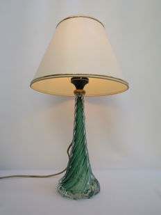 Val St. Lambert - crystal lamp base with hood.