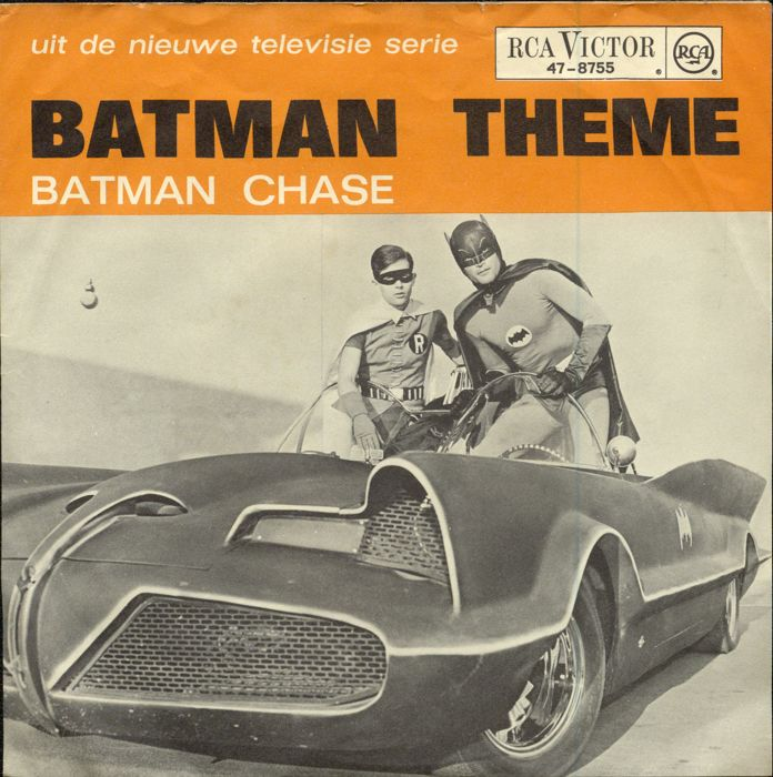 """Batman theme"" single RCA 47-8755 - MEGA RARE Dutch only picture sleeve 7/ 45."