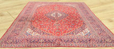 Authentic Hand Knotted Semi Antique Persian Kashan Large Area Rug 386 cm x 294 cm