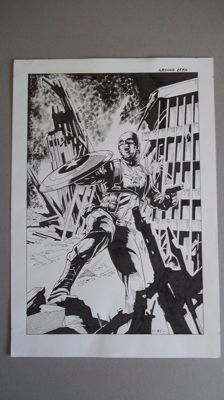 Luciano Bernasconi - original drawing - Marvel Comics - Captain America