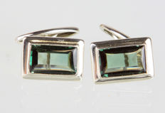 Cufflinks with tourmaline spinel, around 1930