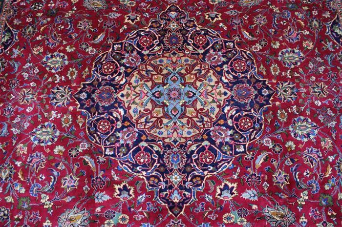 Original hand-knotted Persian carpet, oriental Kashmar approx. 303 x 204 cm