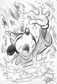 Garrido, Sergio - Original Sketch #4 - Mickey Mouse - The Sorcerer's Apprentice