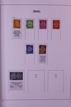Israel 1948/2010 - Collection in 2 Davo standard preprint albums and on 6 stock cards