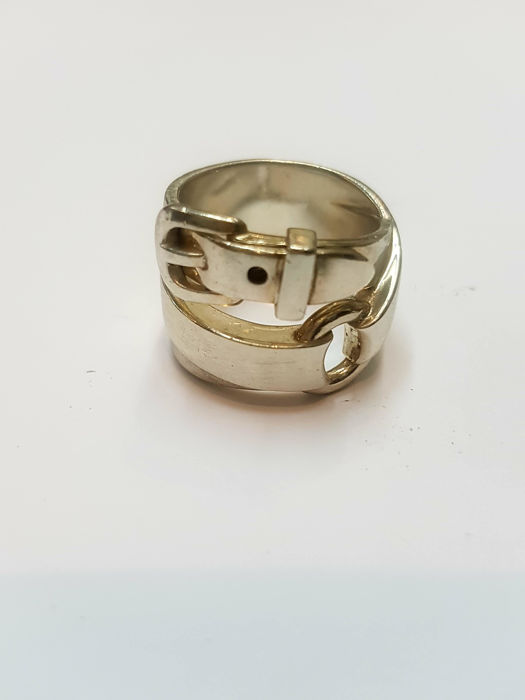 Hermes - Cocktail ring by brand Hermes - 925 silver - size 12