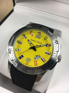 Nautica Flag Yellow NAI13516G  – men's watch