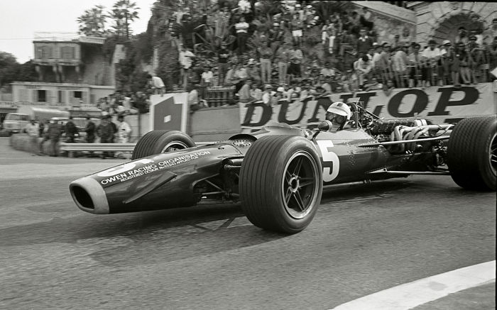 1968  Monaco Grand Prix  Richard Attwood BRM  Photograph 54cm x44cm