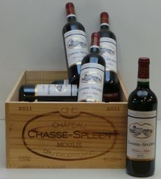 2011 Chasse Spleen - 12 bottles - Original wooden case