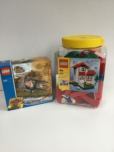 Orient Expedition / Lego world  - 7420 + 5477 -  Thunder Blazer + Classic house building