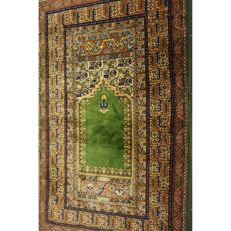 Old hand-knotted Persian carpet Kayseri prayer rug excellent condition 90 x 155 cm