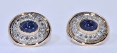 3.97 Ct Sapphires and Diamonds earrings - NO reserve price!
