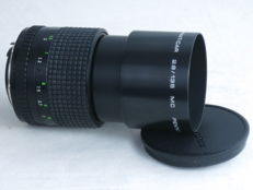 PENTACON PRAKTICAR 135mm f=2.8 tele lens, for Praktica slr camera bayonet mount. EXC+.
