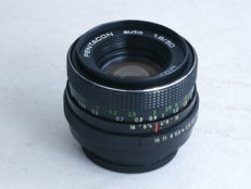PENTACON MC auto 50mm f=1.8 lens, for Praktica slr cameras with M42 screw mount, EXC++
