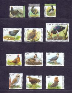 Belgium 1986/2010 - Broad collection of Buzin birds with variations.