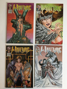 Tipping Cow - Wartblade (Witchblade Parody) - Issues #1A & #1B Rare Nude Variants Limited To 600 & 700 Copies + 1A & 1B Standard Cover - 4 x sc - (1997)