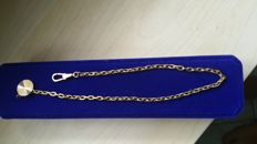 Pocket watch chain in 18 kt gold, 17.785