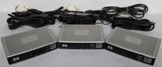 Lot of 3 HP Thin Clients t5325 with power supply units and DVI video cables