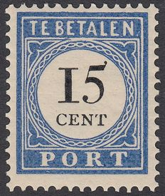 The Netherlands 1894 - Postage due mark and value in black - NVPH P24