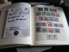 German Reich 1933/1945 - Collection in luxurious preprint album, largely complete.