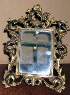 Modernist photo frame made of bronze, early 20th century