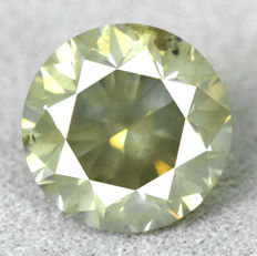 Diamond – 1.59 ct – Natural Fancy Intense Greyish Yellow – NO RESERVE PRICE