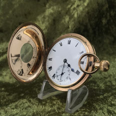 Gold half-hunter Savonet pocket watch – circa 1900