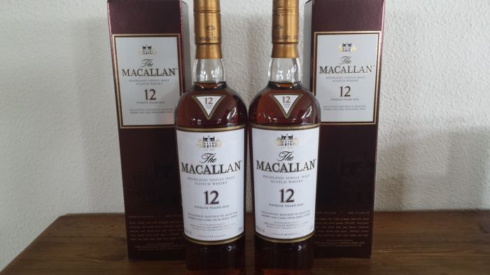 2 flessen - The Macallan 12 Year Old Sherry Oak - 750ml