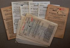 RARE Greek Documents WW II - Greek-Italian War - 7 Strictly Confidential General Orders from King George and the Government with several hundreds of officers names