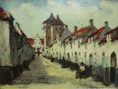 Pieters R. (mid-20th century) - Begijnhof in Vlaanderen