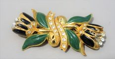 """Signed, """"Coro Duette"""", Quivering Flowers Duette pins/Dress Clips - 1930s"""