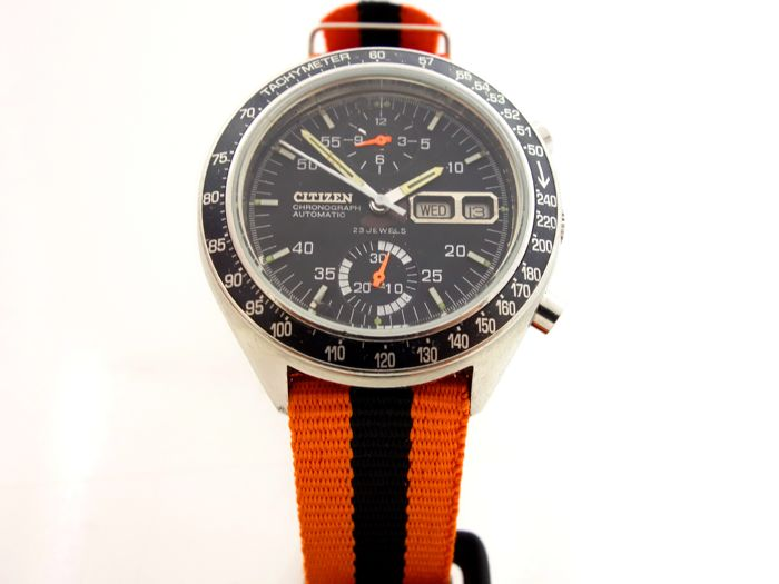 "Citizen - 8110A Caliber ""Speedy"" Automatic Chronograph - 67-9313 - Uomo - 1970-1979"