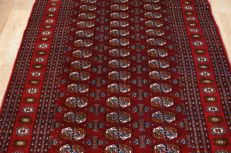 Handwoven Oriental fine antique Turkman Persian carpet Oriental approx. 187 x 128 cm fine weave over 600,000 knots per square metre. Iran