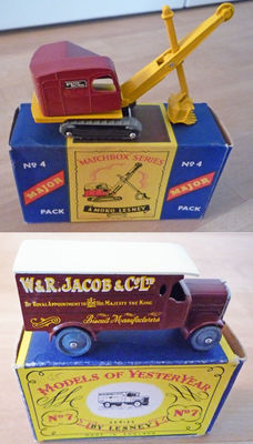 (Moko) Lesney Matchbox - Misc. scales - Ruston Bucyrus No.4 and Leyland 4-Ton Van No.7