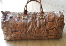 Fine snakeskin travel bag – Handmade
