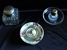 Lot of 3 Antique Inkwells, France