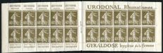 France 1924  Advertising booklet Grey-Poupon, Urodonal, Ch. Guyot, Gyraldose - Yvert no 193-C 1.