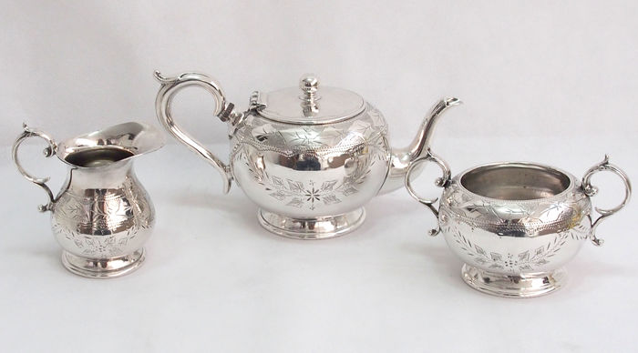 Decorative Tea Set By Arthur E Furniss, England 1910