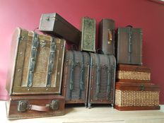 Collection of ten beautiful wine boxes and storage cases