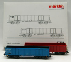 Märklin H0 - 47197/4719 - Set with 2 high sided boxcars and two loose high sided boxcars of the NS/NS Cargo