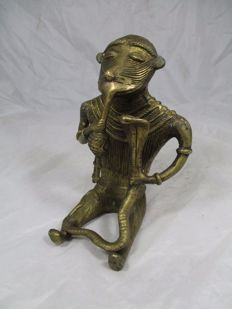 Ashanti-monkey decorated as snake charmer-ASHANTI-Ghana