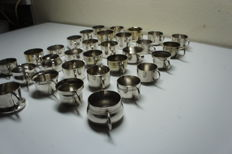 31 Silver plated creamers, 20th century.