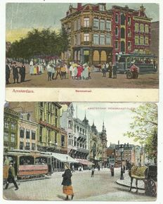 Collection of postcards Amsterdam 128 x