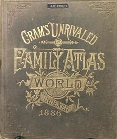 Atlas; Donahue and Henneberry - Cram's Unrivaled Family Atlas of the World - 1886