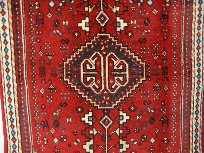 Hand-knotted original Persian carpet, oriental Abadeh antique, approx. 96 x 60 cm, good condition, Iran