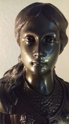 Bronze bust Jeanne d' Arc - late 19th century