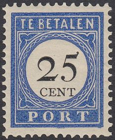 The Netherlands 1894 - Postage due Number and Value in black - NVPH P26