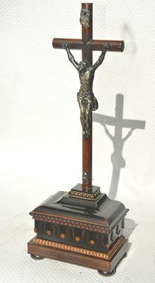Crucifix with silver corpus and frames - Belgium - ca. 1875